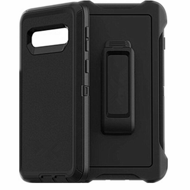 OTTERBOX 77-61282 Defender Series Holster Case for Samsung Galaxy S10 - Black