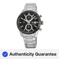 TAG Heuer Carrera Chrono Black Dial Steel Automatic Mens Watch CV2010.BA0794