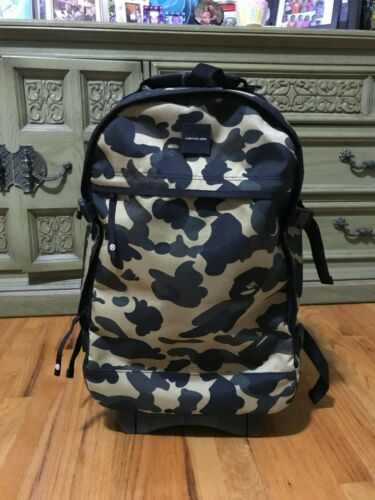 A Bathing Ape 1st Yellow Camo Luggage