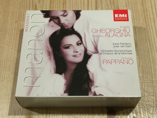 Signed by ANTONIO PAPPANO Massenet Manon Gheorghiu Alagna EMI 3 CD BOX Signiert