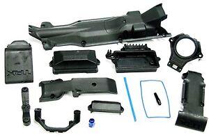 1/10 BRUSHLESS E-REVO SKID PLATES receiver box esc mount Front Rear Traxxas 5608