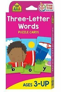 Three Letter Words By School Zone Publishing Company Staff 1992 Cardsflash Cards Revised
