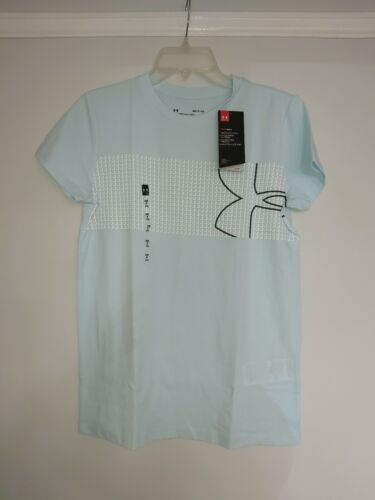 BNWT Womens Under Armour Baby Blue T-shirt Top Gym Running Size Small
