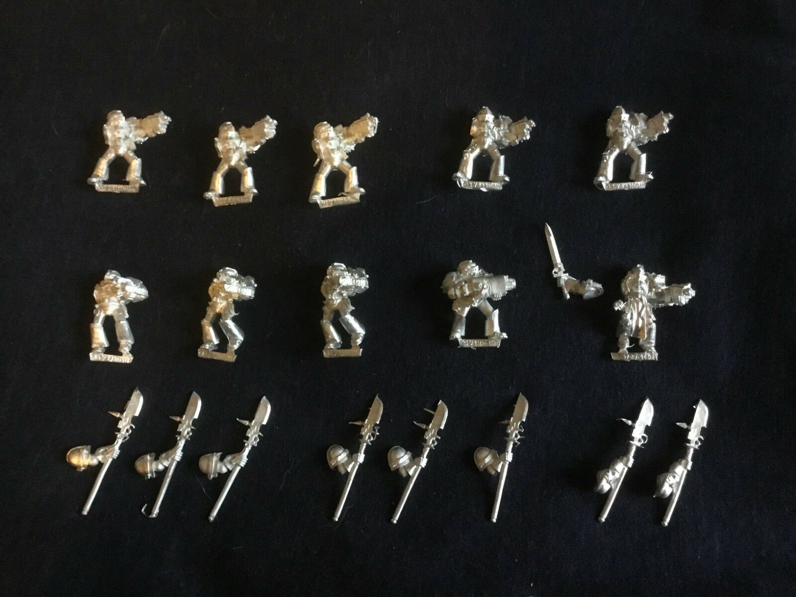 4th Grey Knight Squad of 10 OOP Metal 2002 Miniatures. Boxed, unglued, unpainted