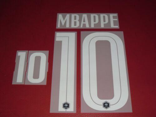 FLOCAGE OFFICIEL MBAPPE FRANCE HOME 2020//2022 2 ETOILES