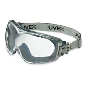 Uvex Stealth S3970D OTG Safety Goggle Clear Lens with Neoprene Band