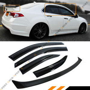 JDM WAVY STYLE SMOKED WINDOW VISORTRUNK SPOILER FOR ACURA - Acura tsx euro r
