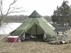 Image is loading Teepee-Tent-10-X-10-Tipi-Family-C&ing- & Teepee Tent 10 X 10 Tipi Family Camping Survival Screened Doors ...