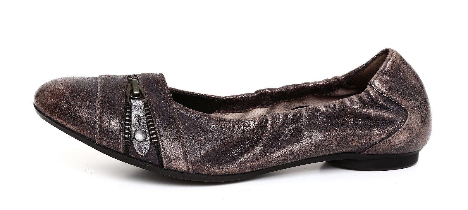 Paul Green Women's Metallic Slip On Leather Flats Sz 3.5