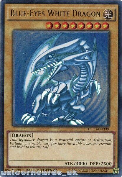 Ct13-en008 Blue-eyes White Dragon Ultra RARE Limited ...