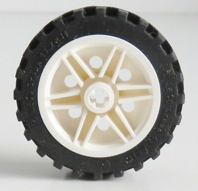 1x Lego Technic Rad schwarz 43.2x22 H Felge hell grau 4184285 4211809 44292c01