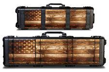 Skin Decal 24 mil Wrap for Pelican 1720 Hard Gun Case USA FLAG WOOD
