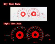 00-04 Ford Focus Carbon Red Indiglo Glow White Gauges
