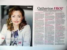 COUPURE DE PRESSE-CLIPPING : Catherine FROT [2pages] 09/2015