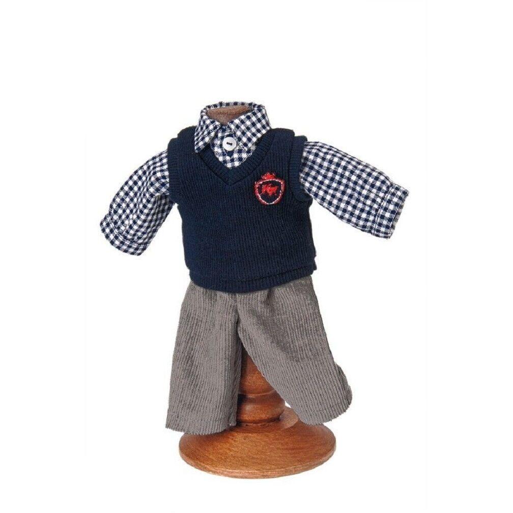 Käthe Kruse Puppen Kleidung Modell Schuljunge fürs 25 cm Däumlinchen 25616...