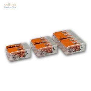 Wago Compact Steckklemmen 2/3/5x 0,5-2,5 Mm² Doses Bornes Avec Levier, Séparable, Neuf-afficher Le Titre D'origine 3jaaizf0-07161740-193158072