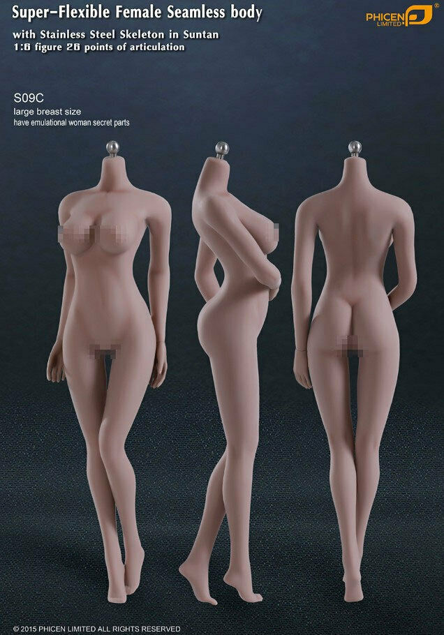Female Seamless Super-Flexible 1 6 Scale Body Large Breast 231PH23