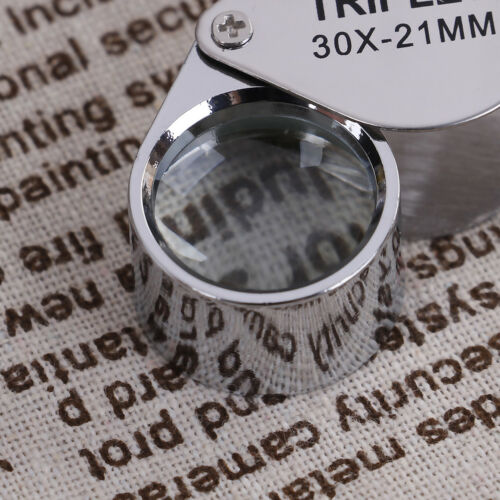 Triplet Jewelers Eye Loupe Magnifier Magnifying Glass Jewelry Diamond With BF