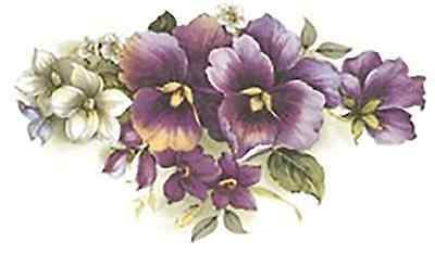 Purple Lavender Flowers Hummingbird Select-A-Size Waterslide Ceramic Decals Xx