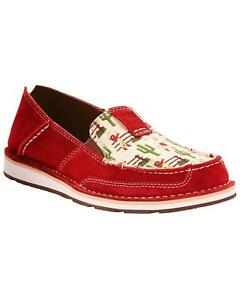 e02db464f17 Ariat Women s Vintage Cowgirl Print Cruiser Slip On Shoes - Moc Toe ...
