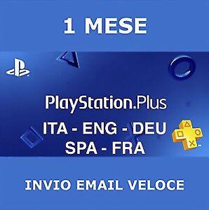 PS Plus PSN PlayStation Plus 1 Mese+14 Giorni Gratis[SPEDIZIONE GRATUITA] PS4