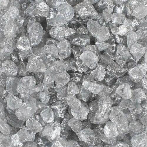 Zierkies 4-10mm Metallic Glassteine silber 500ml Dose EUROSAND 1L=9EUR