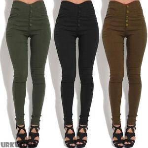 New-Women-Ladies-Stretch-Long-Leggings-Skinny-High-Waist-Leggings-Pants-S-3XL