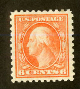 US-Stamps-429-6c-Washington-SUPERB-OG-LH-Fresh-Gem-Choice