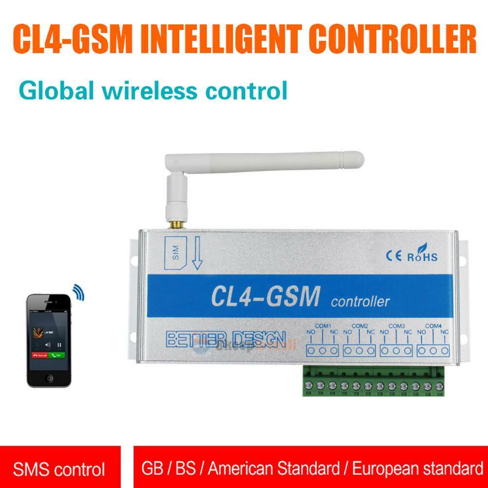 4 Way GSM Relay Switch Controller SMS Call Remote Control Home Light Door Devcie