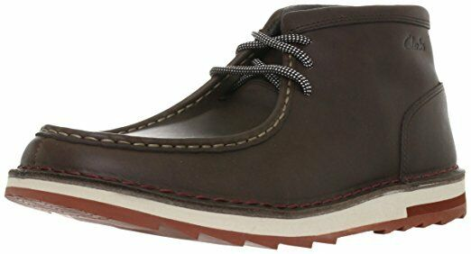 NEW CLARKS MUMFORD FOLK BROWN LEATHER BOOTS  UK Size 8.5 G