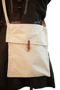Medieval-Reenactment-Cosplay-SCA-LARP-WATER-MESSENGER-COTTON-BAG-Two-Sizes