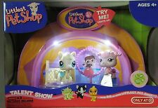 Littlest Pet Shop light up Talent Show with pink poodle & cream horse pony