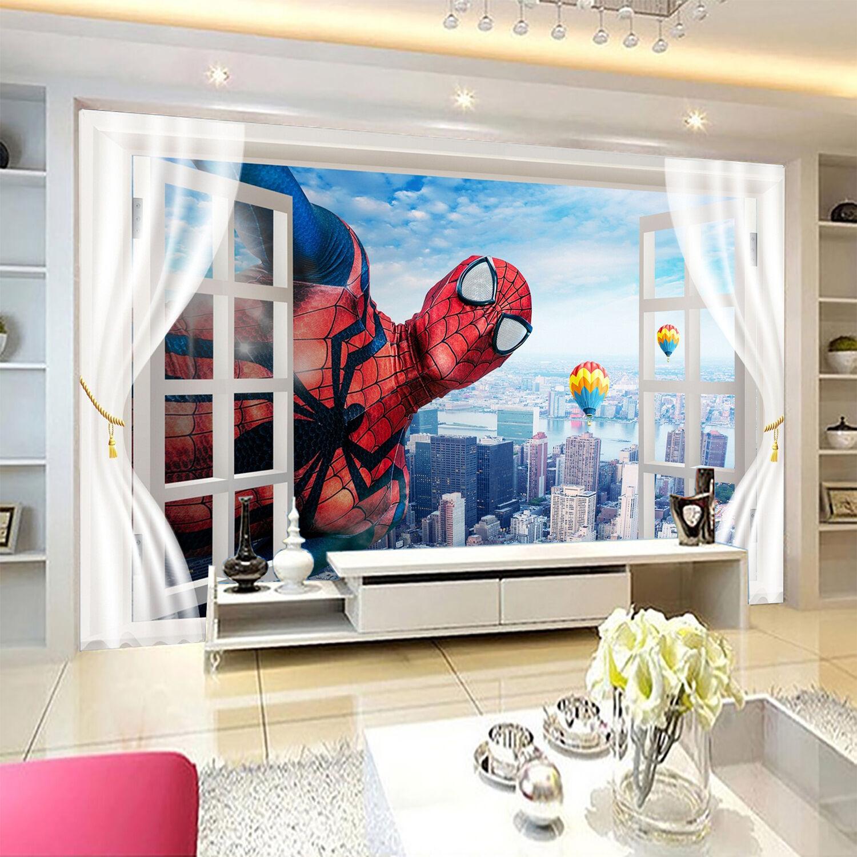 3D City Hero Cartoon 1741 Paper Wall Print Wall Decal Wall Deco Indoor Murals