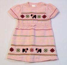"Gymboree ""Girl Detective"" Pink Puppy Dog Terrier Argyle Sweater Dress, 12-18 mos"