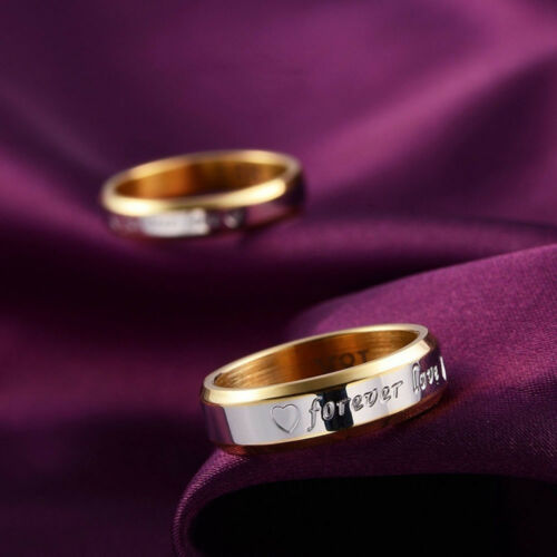 Anniversary Stainless Steel Rings Wedding Ring Couple Ring Forever Love