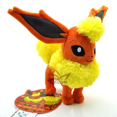 "New 7"" FLAREON Pokemon Rare Soft Plush Toy Doll/PC1855"