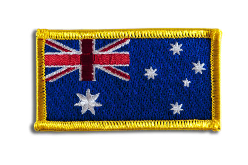 Australian Flag Embroidered Woven Iron On// Sew On Badge Patch 8x4.5cm