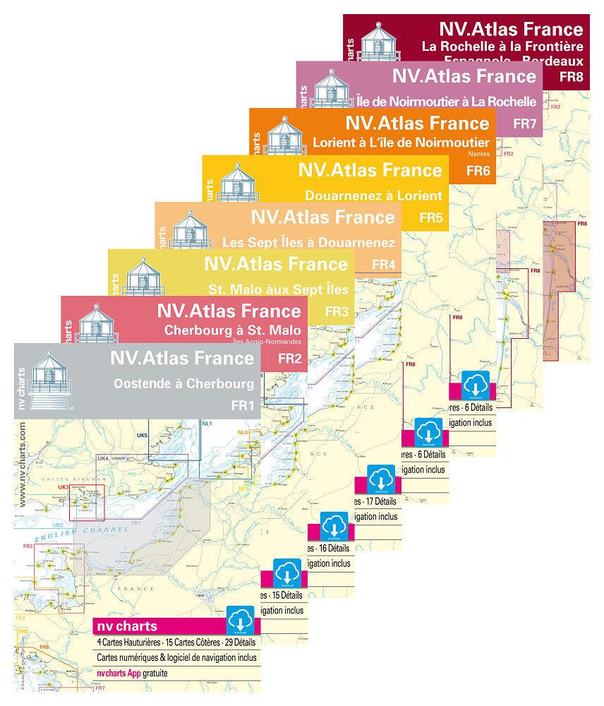 NV SportStiefelkarten Frankreich   Papier digital Atlas, FR 1 2 3 4 5 6 7 8 9 10 11