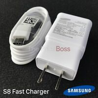 Samsung Galaxy S8 S8+ Charger Adaptive Fast Charging Usb Type C Cable White