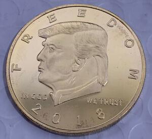 2018 golden trump 2nd amendment coin
