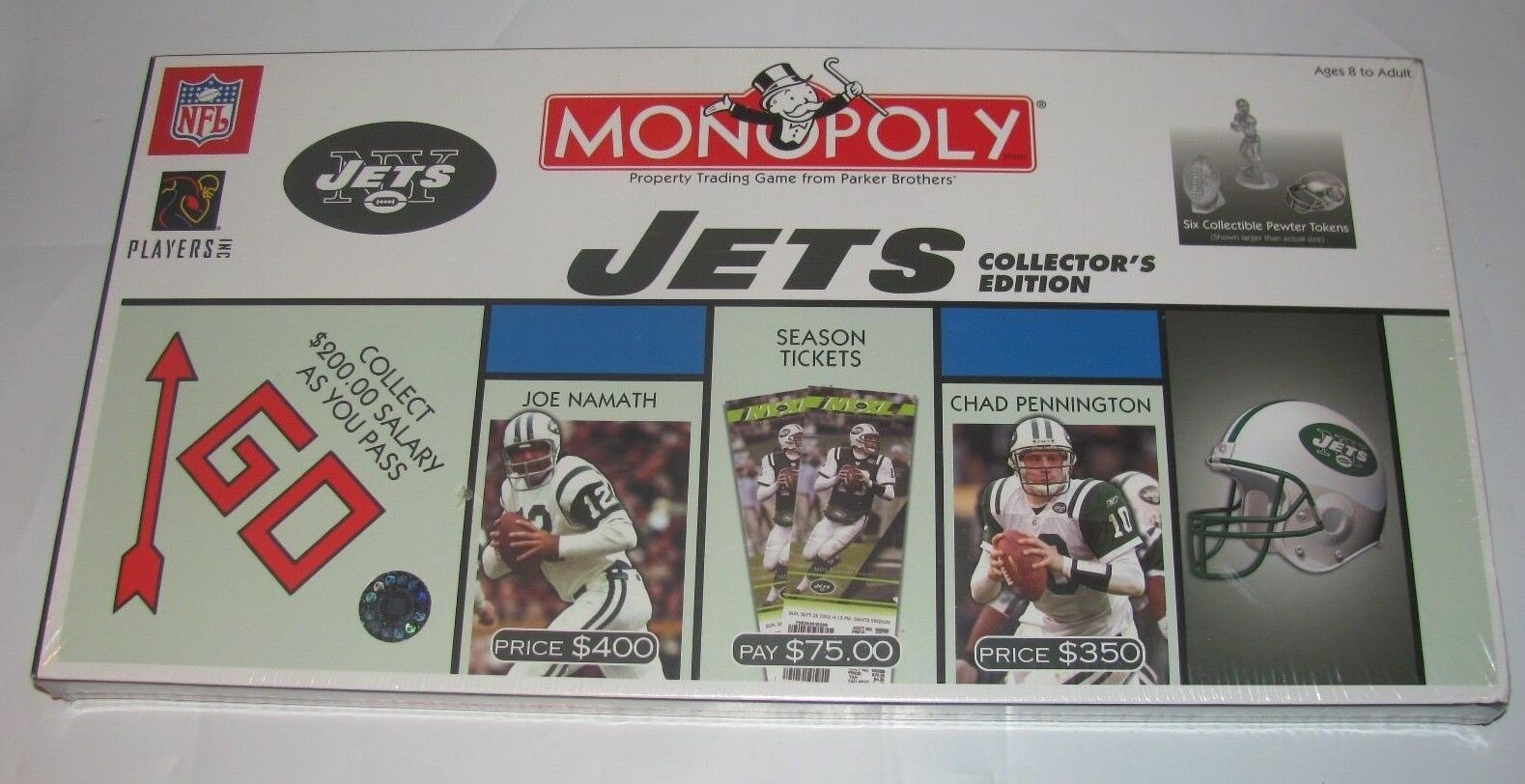 USAOPOLY NFL NEW YORK JETS MONOPOLY BOARD GAME (C) 2004 NEW SEALED