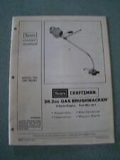 Craftsman model 358797270 line trimmers/weedwackers, gas genuine parts.