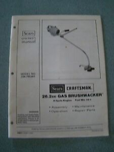 Craftsman brushwacker c944. 514560 manuals.