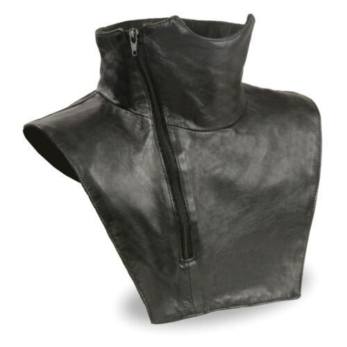 Unisex Premium Leather Neck Warmer W// Zipper Closure /& Fleece Liner  **SH165