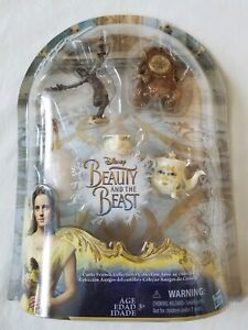 Beauty and the Beast Disney 5-Figure Playset Chip Potts Cogsworth Lumiere NEW