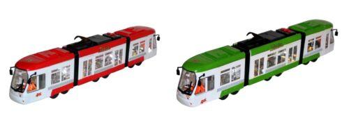 Kinder Spielzeug Straßenbahn Tram Zug Bus LED Licht, Sound, fährt vor & zurück