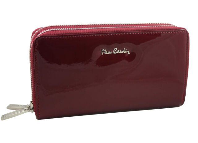a411604cd3719 PIERRE CARDIN exklusiv rot Geldbörse Leder Portemonnaie Damenbörse wallet