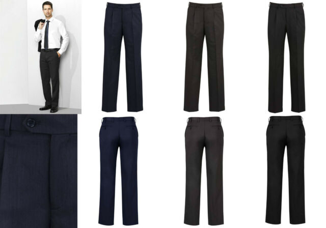 Biz Corporate Mens One Pleat Pant 70111 | Cool Stretch, Office, Formal, Pants