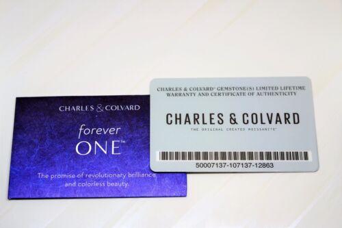 Charles and Colvard 5mm Redondo para siempre una definición Corazones /& Flechas Moissanita con tarjeta