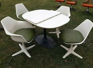 ☆4 1960s vintage Burke style TULIP Shell Arm Chairs and ...